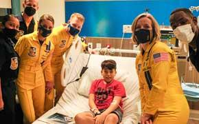 Blue Angels Go Gold For Childhood Cancer Awareness Month