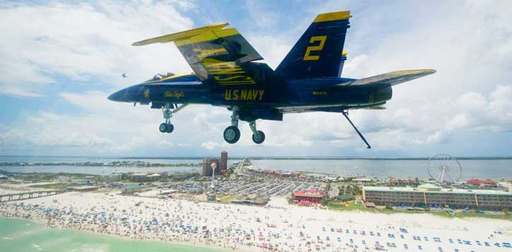 It S The Red White And Blues Week On Pensacola Beach With Blue Angels Annual Air Show Taking Place This Weekend